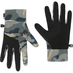 The North Face Etip Gants Homme, burnt olive green woods camo print
